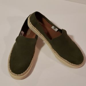 TOMS Sunset Suede Slip on Sneakers size 8